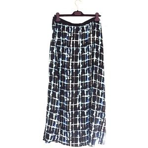 Eloquii Long Maxi Front Split Skirt Unlined Sz 16
